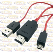 Cabo MHL Galaxy S4 e Not II Adaptador HDMI Micro USB